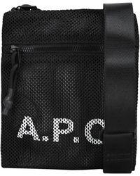 A.P.C. Rebound Neck Pouch - Black