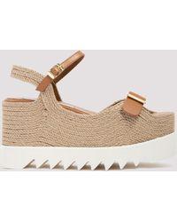Stella McCartney Elyse Platform Sandals - Natural