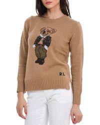 Polo Ralph Lauren Teddy Bear Crewneck Jumper - Brown