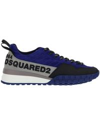 DSquared² Logo Printed Low-top Trainers - Blue