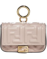 Fendi Nano Baguette Charm Crossbody Bag - Pink