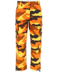 Off-White c/o Virgil Abloh Camouflage Trousers - Orange