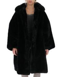 Comme des Garçons Faux Fur Coat - Black