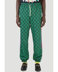 Gucci GG Web Jogging Pants - Green
