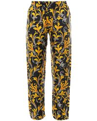 Versace Baroque Print Trousers - Yellow