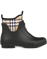Burberry Vintage Check Rain Boots - Black
