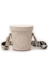 Stella McCartney Logo Bucket Bag - White