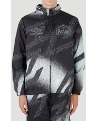 Aries X Umbro Abstract Pattern Printed Track Jacket - Multicolour