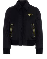 Prada Sgb630s2021xvzf0002 Outerwear Jacket - Black