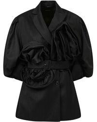 Simone Rocha Wool Blend Jacket - Black