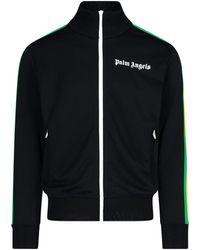 Palm Angels Logo Print Track Jacket - Black