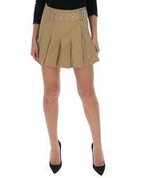 Junya Watanabe Eyelet Belt Pleated Skirt - Natural