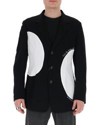 Yohji Yamamoto Patch Detail Blazer - Black