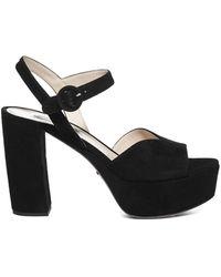 Prada Platform Sandals - Black