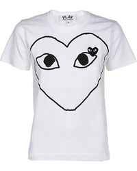 COMME DES GARÇONS PLAY Heart Printed T-shirt - White