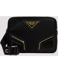 Prada Black Nylon Ipad Case Unica
