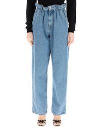 Miu Miu Palazzo Denim Jeans 27 Cotton,denim - Blue