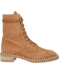 Stuart Weitzman Sondra Combat Boots - Brown