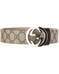 d19664838 Gucci Dionysus GG Supreme Belt in Brown - Lyst