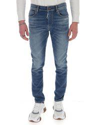 Off-White c/o Virgil Abloh Logo Skinny Denim Jeans - Blue