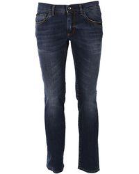 Dolce & Gabbana Slim Fit Denim Jeans - Blue