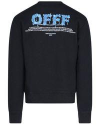 Off-White c/o Virgil Abloh Hands Logo Print Sweater - Black