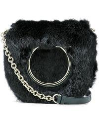 Ferragamo - Vela Furry Crossbody Bag - Lyst
