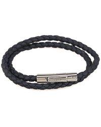 Tod's Mycolors Dark Blue Leather Bracelet