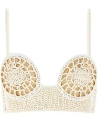 Magda Butrym Two-tone Strapped Top - Natural