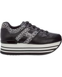 Hogan - Maxi Platform H283 Sneakers In Black - Lyst