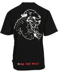 Gcds Big Bad Wolf Embroidery T-shirt - Black