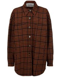Nanushka Martin Checked Oversized Shirt - Brown