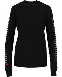 Rick Owens DRKSHDW Logo Print Long-sleeved T-shirt - Black