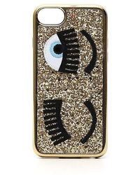 Chiara Ferragni - Flirting Eye Iphone 8 Glitter Case - Lyst