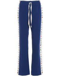 CASABLANCA Side-stripe Track Pants - Blue