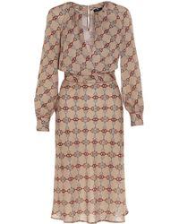 Elisabetta Franchi Macro Horse Bit Print Dress - Multicolour