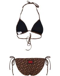Burberry Monogram Print Triangle Bikini Set - Multicolor
