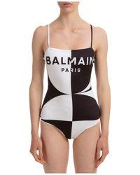 Balmain Women's Swimsuit Swimming Costume Swimwear - Black