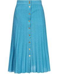 Pinko Shimmery Pleated Midi Skirt - Blue