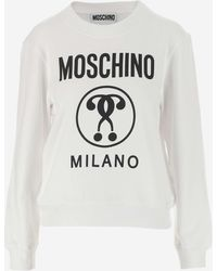 Moschino Double Question Mark Sweatshirt - White