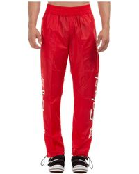 Palm Angels Printed Trackpants - Red