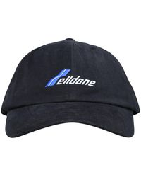 we11done Logo Embroidered Baseball Cap - Black