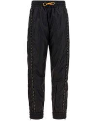 Fendi Drawstring Track Pants - Black