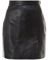 Nanushka Gima Regenerated Leather Mini Skirt - Black