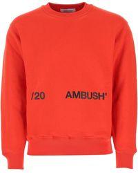 Ambush Logo Crewneck Sweatshirt - Red