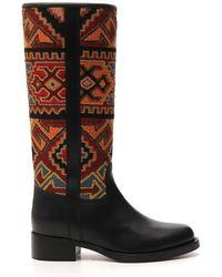 Etro Geometric Pattern Boots - Multicolour