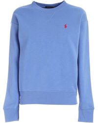 Polo Ralph Lauren Logo Embroidered Sweatshirt - Blue