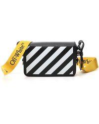 Off-White c/o Virgil Abloh Diag Mini Flap Crossbody Bag - Black