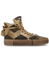 Uma Wang Patchwork High-top Trainers - Brown