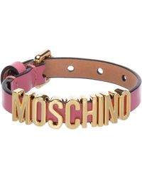 Moschino Lettering Strap Bracelet - Pink